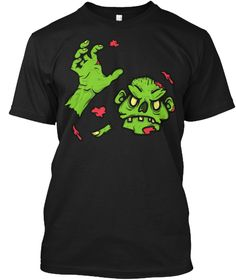 Zombie Outbreak! Halloween T Shirts  Black T-Shirt Front