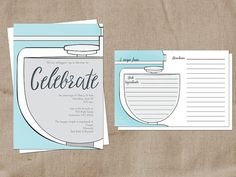 Kitchen Themed Bridal Shower and Recipe Card by LauraSchembre