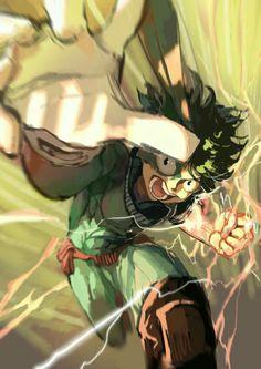 "Midoriya ""Deku"" Izuku, hero, suit, uniform, outfit, Quirk, One For All; My Hero Academia"