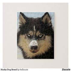 Shop Husky Dog Breed Jigsaw Puzzle created by hellocute. Husky Dog, Snow Dogs, Make Your Own Puzzle, Custom Gift Boxes, Animal Skulls, High Quality Images, Pink And Green, Dog Breeds, Jigsaw Puzzles