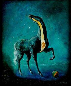 Edgar Endeエドガー・エンデ(1901ー1965)「Weihnachten/Das geborstene Pferd(クリスマス・ひび割れた馬)」(1948 シュールレアリスム)