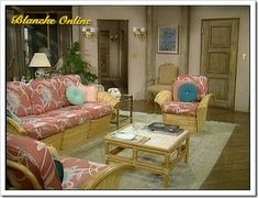 Back in the 80s and early 90s when the show aired, The Golden Girls Miami house was decorated in wicker and pastel floral prints. Description from diynewlyweds.com. I searched for this on bing.com/images
