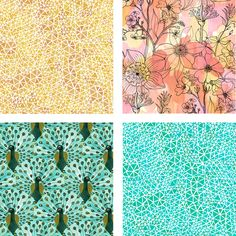 Geninne's new line of fabric designs for Cloud 9 organicz. I love the watercolor-looks and the triangles.