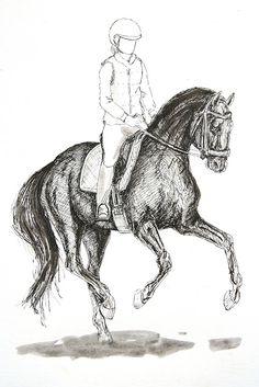 MZ - horse art: Dressage V