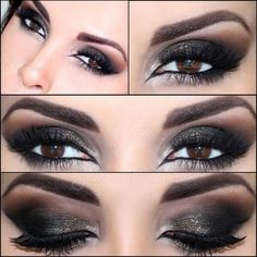 Makeup for Brown eyes - even a dramatic black/really dark brown smokey look can look great with brown eyes