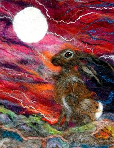 The Fable of the Moon and the Hare Premium Print of Original