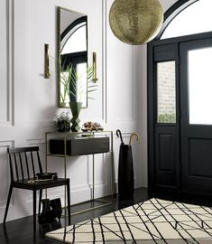 12 Beautiful Entryway Decoration Idea For The Beauty Of Your Home Interior — Decor & Design Cb2 Furniture, Entryway Furniture, Entryway Decor, Entryway Cabinet, Flur Design, Hallway Designs, Entry Way Design, Cool Rooms, Halls
