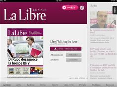 Don't miss the most important news of the day with the Apps for iPad that Tapptic realized for Libre Belgique and DH. Read the newspaper and share the articles on twitter and facebook. You will have on your hand all news about Sport, Cinema-TV, regional affairs...