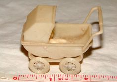 Vtg Doll House Miniature Tiny Nursery Baby Carriage Stroller Furniture Items