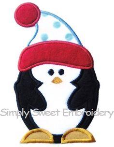 Penguin 2 Machine Embroidery Applique Design
