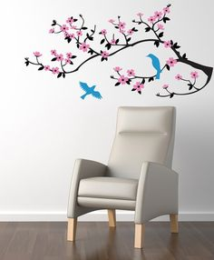 Wall Decal   Cherry Blossom Branch.  Wall Decal by CherryWalls, $41.00