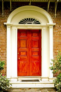 David Malament Photography | Charleston Architecture  Orangey red door