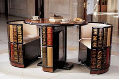 ¡La mesa ideal para mantener tertulias litararias a la hora del té!