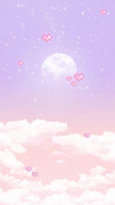 영롱 보름달 배경