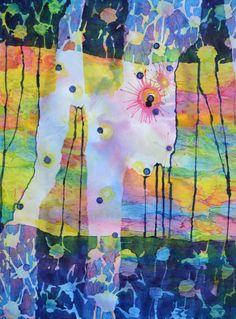 "Lynda Hoffman-Snodgrass - ""Marked!!! A Paintball Dream""  watercolor 29 x 21"""