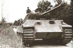 """PzKpfw. V """"Panther"""", Panzer Lehr Division, Normandy, probably July 1944."""