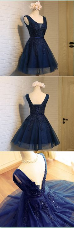 Dark Navy Homecoming Dresses,Pretty Party Dress,Charming Homecoming Dress,Graduation Dress,Homecoming Dress,Short Prom Dress