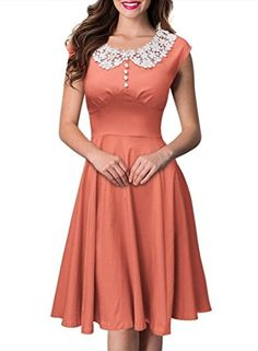 SmileWoman Women's Classy Vintage Audrey Hepburn Style Evening Dress at Amazon Women's Clothing store: