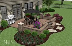 Fun and Simple Patio With a Fire Pit | Patio Designs and Ideas.