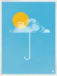 Umbrella Print by Christopher David Ryan