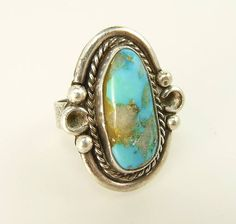 Vintage Navajo Sterling & Turquoise Ring https://www.etsy.com/jujubee1//listing/535673367/vintage-navajo-sterling-turquoise-ring