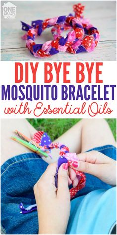 DIY Bye Bye Mosquito Bracelet with Essential Oils