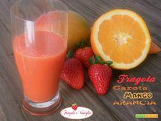 Succo di Fragola Carota Mango Arancia  #ricette #food #recipes