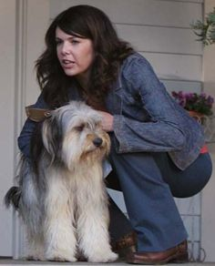 """"""" oh ya I almost forgot your afraid of the stairs paulanca"""" ya that's right I'm ganna call you paulanca, paulanca the dog."""" A couple of lines from Gilmore girls"""