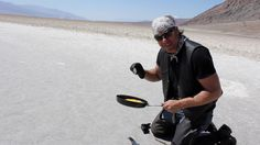 Baking a frittata - Badwater Basin, Death Valley...