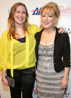 Bette Midler and Sophie von Haselberg- Celeb Moms and Their Look-Alike Daughters-