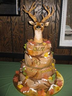 Hunting Themed Birthday Cake By SusanReis on CakeCentral.com