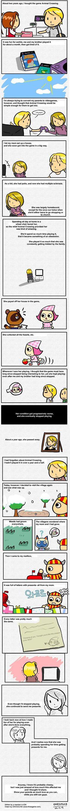 sad Animal Crossing mom MS story