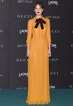Dakota Johnson en robe Gucci au LACMA film gala, le 7 novembre 2015