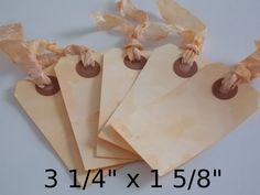 Tea Brown Set of 50 Any Color Any Size Stained by PaperEtcStudio, $18.00