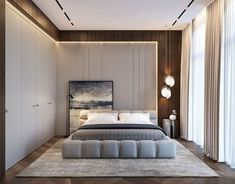 32 Gorgeous Bedroom Sets You Definitely Like - A bed is basically used for sleeping and sometimes for relaxing, working, exercising and reading. There are many styles and types of bedroom sets avai. Luxury Bedroom Design, Home Room Design, Master Bedroom Design, Home Interior Design, Living Room Designs, Modern Luxury Bedroom, Loft Design, Ideas Dormitorios, Round Beds