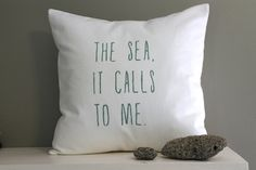 the sea pillow cover | sea foam green | ocean beach nautical pillow | 18 x 18 pillow cover by FightingforJoy on Etsy https://www.etsy.com/listing/187533077/the-sea-pillow-cover-sea-foam-green