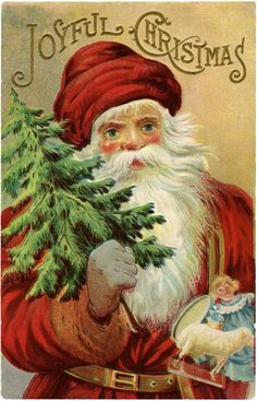 Vintage Christmas Santa Image - Wonderful! - The Graphics Fairy