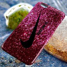 Nike Just Do It Purple Sparkle Glitter Apple iPhone 6 6 Plus 6s 5 5c 5s 4 4s iPod Touch Case