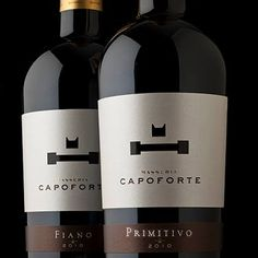 MASSERIA CAPOFORTE | FIANO & PRIMITIVO  Fiano is a white wine straw yellow with greenish hightlights, while Primitivo is a deep ruby red wine, with a rich and spacious nose.