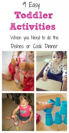 9 Easy Toddler Activities with Little to no Setup for When you Need to Keep Them Busy
