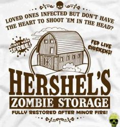 """Hershel's Zombie Storage T-Shirt Zombies with no torso are half price! This unofficial Tee Is inspired by the TV show """"The Walking Dead"""". Walking Dead Funny, Walking Dead Zombies, The Walking Dead 3, Zombie Apocolypse, Apocalypse, Zombie Attack, Stuff And Thangs, Daryl Dixon, Just In Case"""