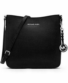 MICHAEL Michael Kors Handbag, Jet Set Travel Large Saffiano Messenger Bag - Crossbody & Messenger Bags - Handbags & Accessories - Macy's