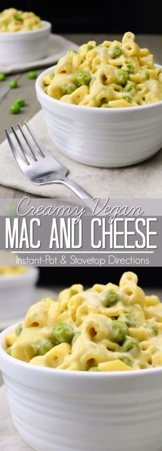 Creamy Vegan Mac and Cheese (Instant Pot and Stovetop instructions) | Where You Get Your Protein - Vegan Recipes
