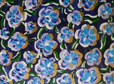 """FREE SHIPPING Acrylic Painting """"Rainbow flowers indaco"""" original by Gioia Albano on canvans board"""