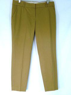 J Crew Womens Capri Cropped Pants Cotton Spandex Khaki Size 8 #JCrew #CaprisCropped