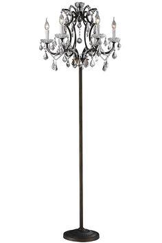 Diy floor lamp chandelier floor lamp by leticia diy home decor adreanna floor lamp crystal floor lamp unique floor lamps homedecorators aloadofball Choice Image