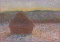 Stack of Wheat (Thaw, Sunset) | The Art Institute of Chicago