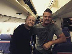 Via Zach: Plane buddies @dandonegan & some homeless fan ... #Disturbed #Shinedown .. Seya later South America #ZachMyers   via Instagram http://ift.tt/2ckhpAw  Shinedown Zach Myers