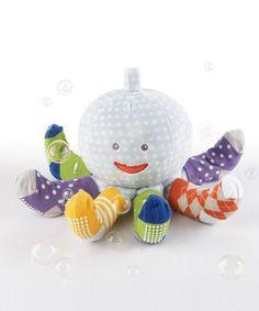 Look at this #zulilyfind! Mr. Sock T. Pus Plush Toy & Sock Set by Baby Aspen #zulilyfinds Pieuvre à chaussettes