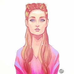 Sansa Stark fan art.
